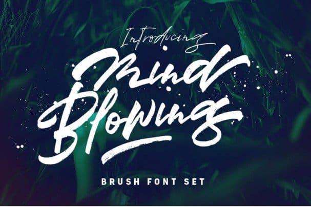 Mind Blowing 3 Brush Font Set шрифт скачать бесплатно