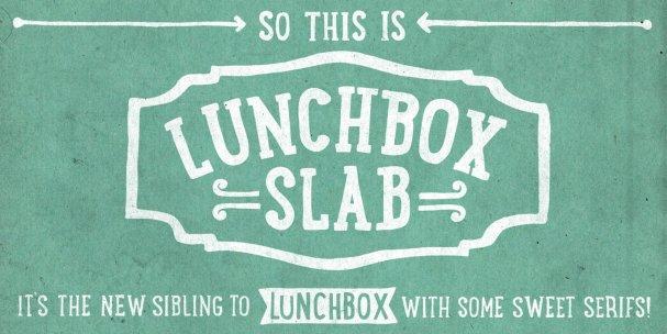 Lunchbox Slab Regular шрифт скачать бесплатно