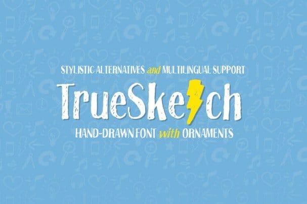 Truesketch шрифт скачать бесплатно