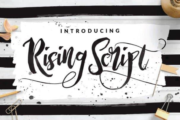 Rising Brush Script шрифт скачать бесплатно