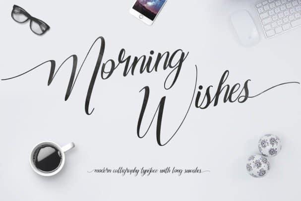 Morning Wishes шрифт скачать бесплатно