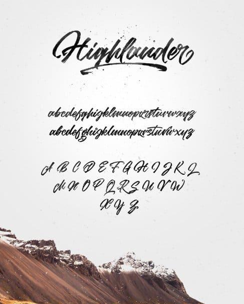 Highlander marker script шрифт скачать бесплатно