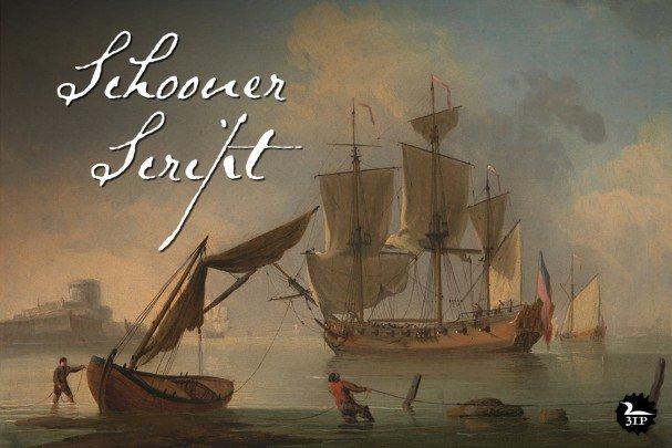 Schooner Script шрифт скачать бесплатно
