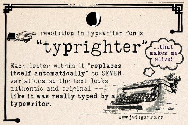 Typrighter шрифт скачать бесплатно