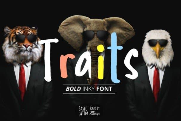Traits Inky   шрифт скачать бесплатно