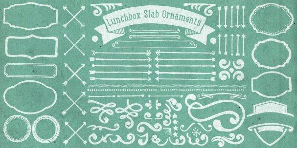 Lunchbox Slab Ornaments шрифт скачать бесплатно
