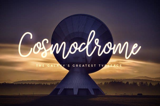Cosmodrome Monoline Script   шрифт скачать бесплатно