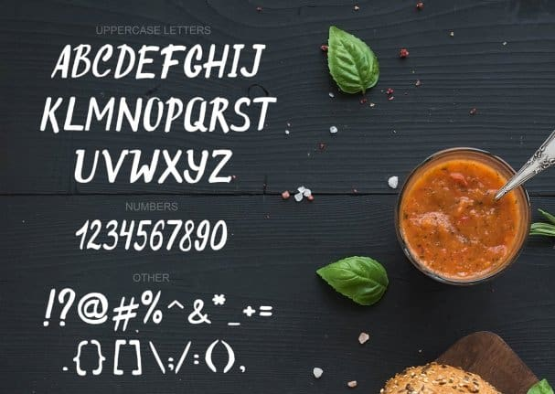 Original Burger Font шрифт скачать бесплатно