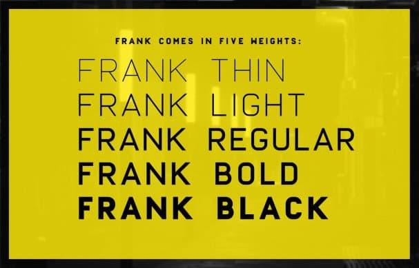 Frank шрифт скачать бесплатно