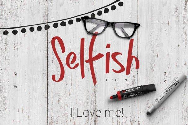 Selfish шрифт скачать бесплатно