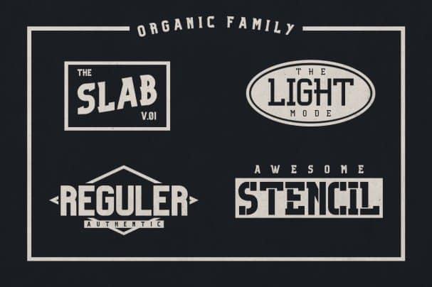 Organic Family шрифт скачать бесплатно