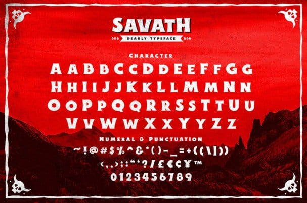Savath шрифт скачать бесплатно