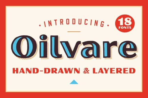 Oilvare Family шрифт скачать бесплатно