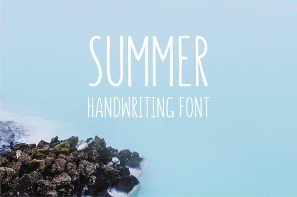 Summer - Handwriting   шрифт скачать бесплатно