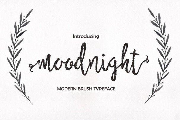 Moodnight Script шрифт скачать бесплатно