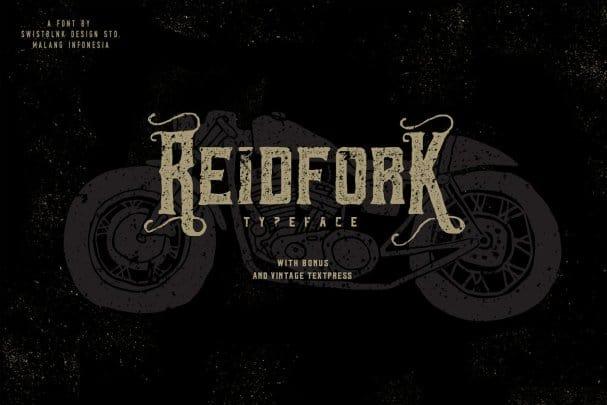 Reidfork Typeface + Textpress шрифт скачать бесплатно
