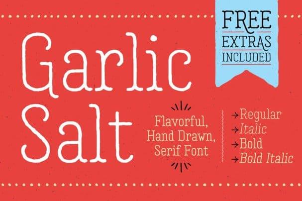 Garlic Salt   Family шрифт скачать бесплатно