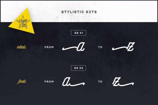 Rising Star шрифт скачать бесплатно