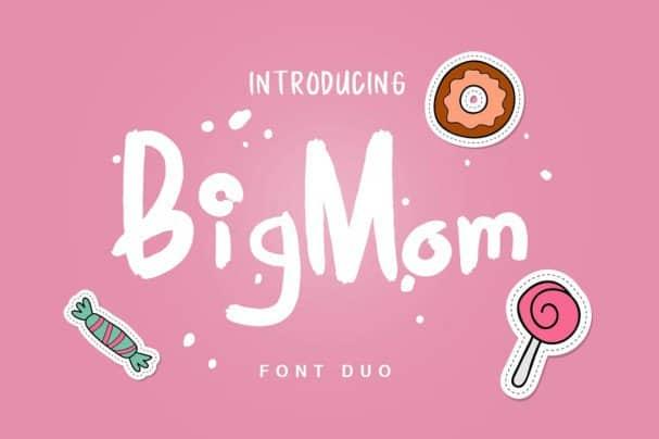 BigMom Font Duo шрифт скачать бесплатно