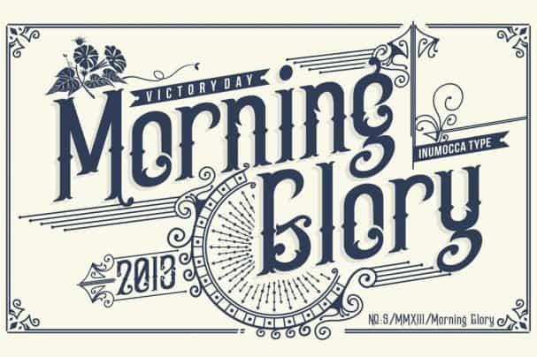 Morning Glory шрифт скачать бесплатно