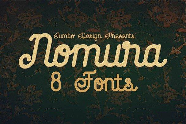 Nomura - Vintage Style   шрифт скачать бесплатно