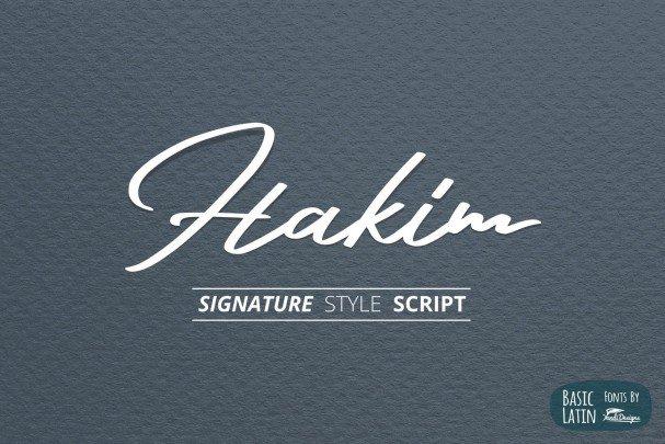 Hakim Signature Font шрифт скачать бесплатно