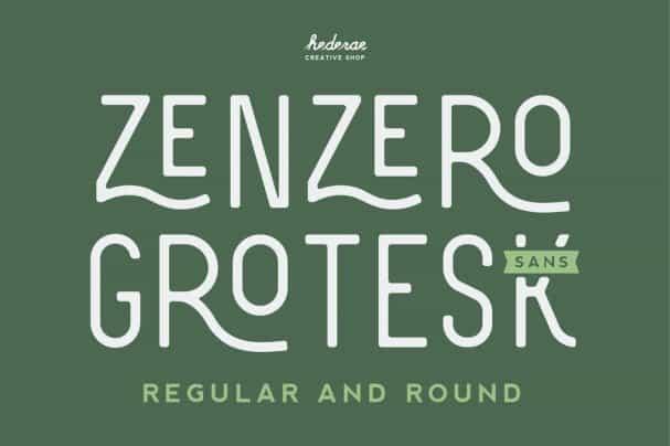 Zenzero Sans шрифт скачать бесплатно