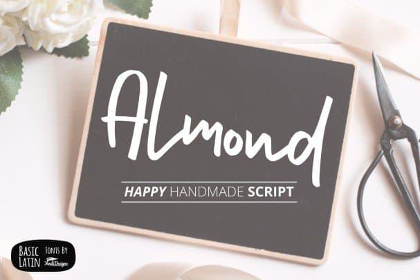 Almond   шрифт скачать бесплатно