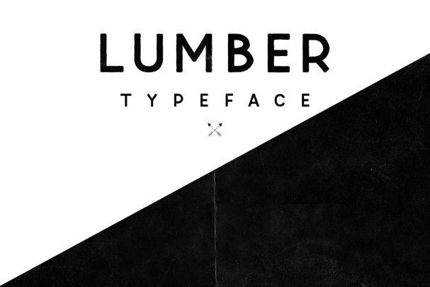 Lumber Typeface шрифт скачать бесплатно