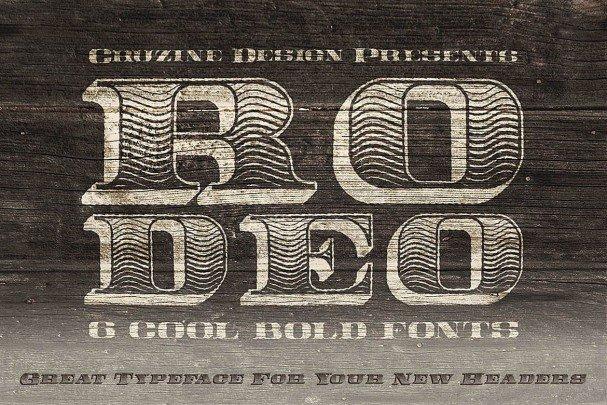 Rodeo Typeface шрифт скачать бесплатно