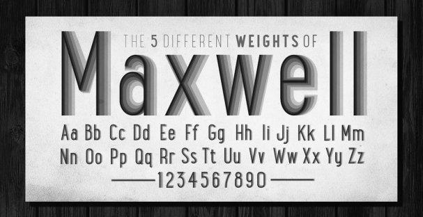 Maxwell Sans Small Caps Bold шрифт скачать бесплатно