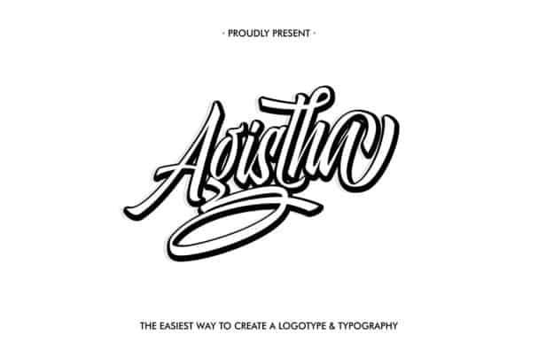 Agistha Script шрифт скачать бесплатно