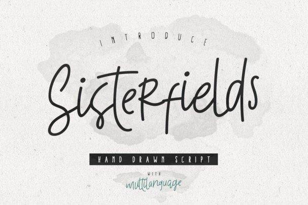 Sisterfields Script шрифт скачать бесплатно