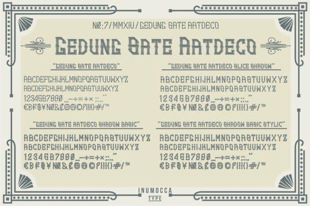 GS.ArtDeco Family Font шрифт скачать бесплатно