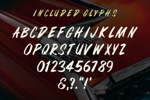 Fifties Paint Brush   шрифт скачать бесплатно