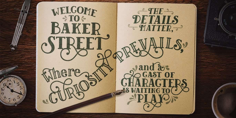 Baker Street Rough шрифт скачать бесплатно