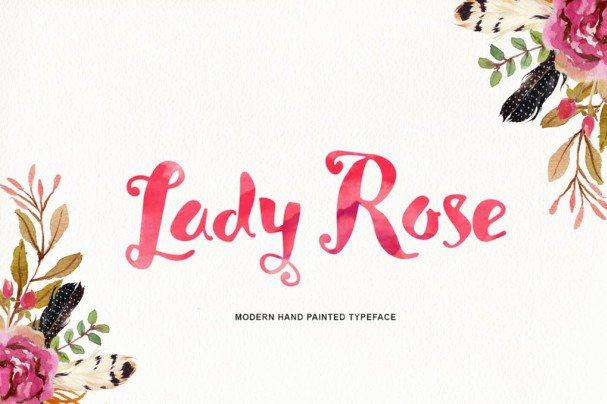 Lady Rose Script шрифт скачать бесплатно