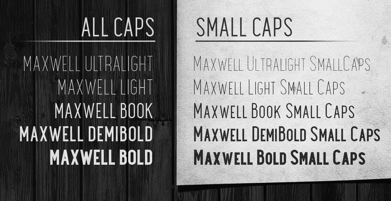 Maxwell Sans Bold шрифт скачать бесплатно