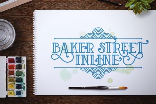 Baker Street Inline шрифт скачать бесплатно