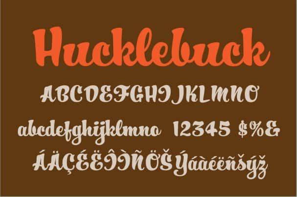 Hucklebuck шрифт скачать бесплатно
