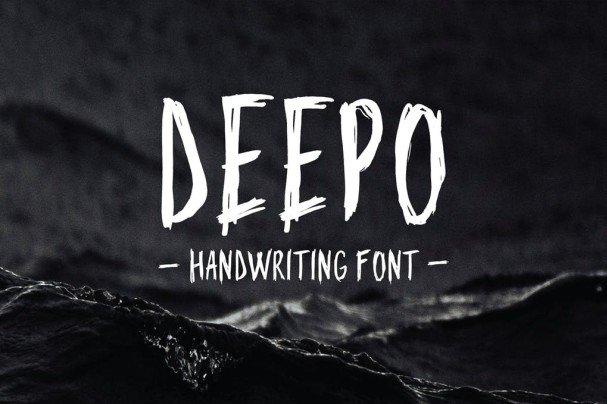 Deepo - Handwriting Font шрифт скачать бесплатно