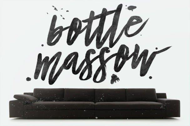 Bottle Massow Typeface шрифт скачать бесплатно