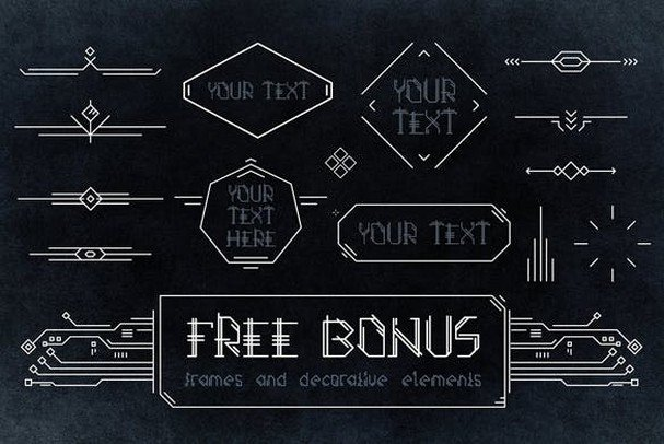 Azteker - ancient fantastic font шрифт скачать бесплатно