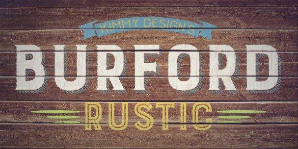 Burford Rustic Book UltraLight шрифт скачать бесплатно