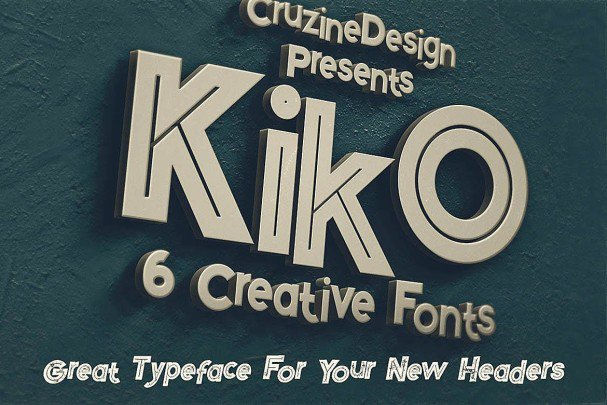 Kiko - Funny Display Font шрифт скачать бесплатно
