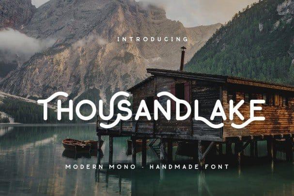 Thousand Lake - Handmade Font шрифт скачать бесплатно