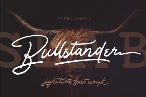 Bullstander 6   Set шрифт скачать бесплатно