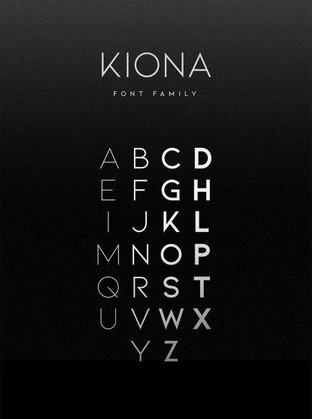 KIONA шрифт скачать бесплатно
