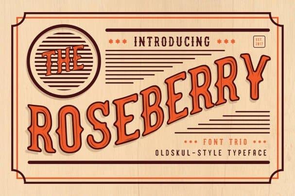 The Roseberry -   Trio шрифт скачать бесплатно