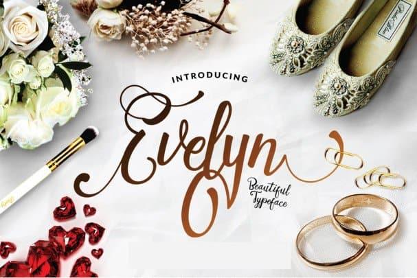 Evelyn Script шрифт скачать бесплатно